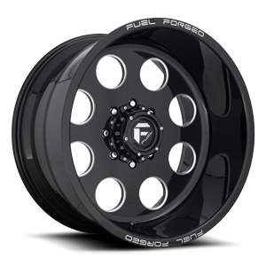 FF31D 8 Lug Super Single Front Gloss Black & Milled 8 lug