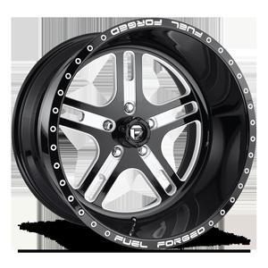 Fuel Forged Wheels FF33 - 5 Lug 5 Gloss Black & Milled