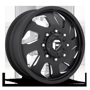 Fuel Dually Wheels FF39D - 8 Lug Front 8 Matte Black & Milled