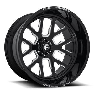 FFC45 - 6 Lug | Concave Gloss Black & Milled 6 lug