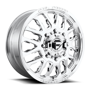 Fuel Dually Wheels FF45D - Front 8 Polished