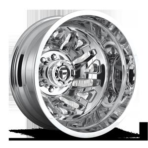 Fuel Dually Wheels FF51D - Rear 8 Polished