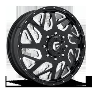 FF51D - FRONT Gloss Black & Milled 8 lug