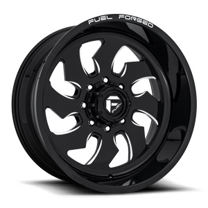 FF52D - Super Single Front Gloss Black & Milled 8 lug