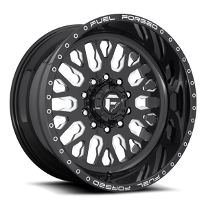 FF55D - Super Single Front Gloss Black & Milled 10 lug