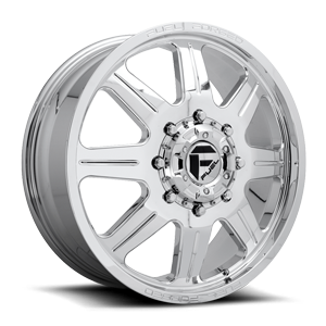 Fuel Dually Wheels FF57D - Front 8 Polished