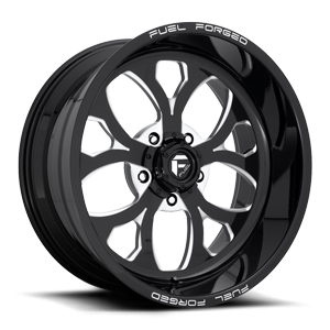 Fuel Forged Wheels FF58 - 5 Lug 5 Gloss Black & Milled