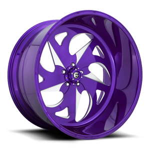 FF59 - 5 Lug Candy Purple & Milled 5 lug