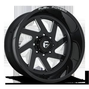 FF65 Gloss Black & Milled 8 lug