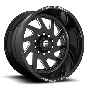 FF65D - Super Single Front Gloss Black & Milled 10 lug