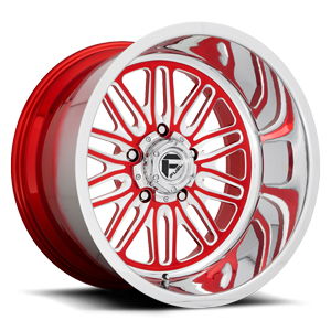 FF66 - 5 Lug Candy Red w/ Polish Lip 5 lug