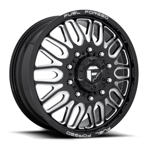 FF66D - 10 Lug Front Gloss Black & Milled 10 lug