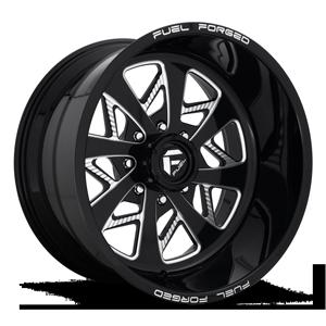 FF78 Gloss Black & Milled 8 lug