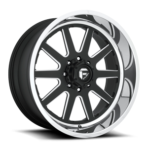 Fuel Forged Wheels FF83 8 Matte Black & Milled w/ Polished Lip