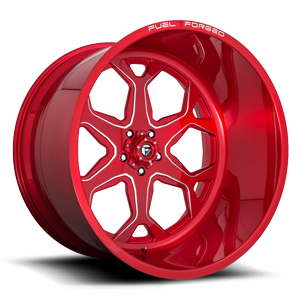 Fuel Forged Wheels FF99 5 Soft Candy Red & Milled
