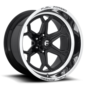 FFC101 6 Lug | Concave Gloss Black w/ Polished Lip 6 lug