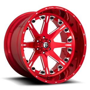 FFC25 | Concave Soft Candy Red & Milled 6 lug