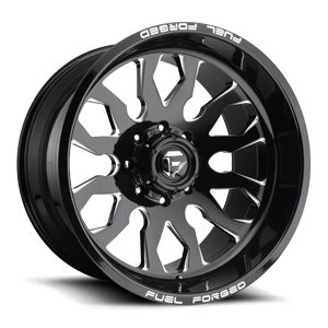 Fuel Forged Concave FFC37 | Concave 8 Gloss Black & Milled