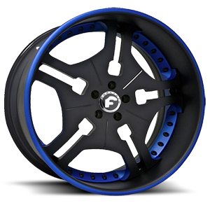 Forgiato FIA 5 Black/Blue Center, Black/Blue Lip