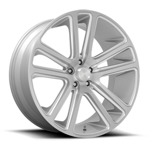 Flex - S257 Silver with Brushed Face 6 lug