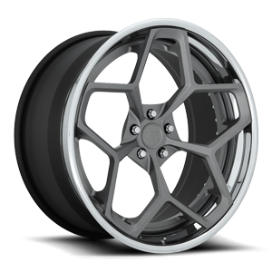 Niche Forged Fortis 5 22x11 | Anthracite w/ Matte Clear | Chrome Lip