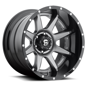 Fuel 2-Piece Wheels Rampage - D238 5 Anthracite Center and Gloss Black Lip