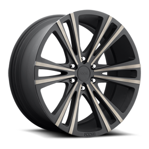 Wedge - F160 Black & Machined with Dark Tint 6 lug