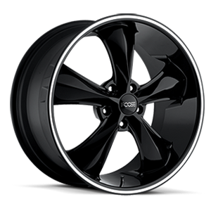 Legend - F104 Gloss Black with Lip Groove 5 lug