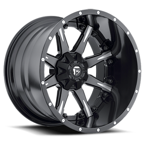 Fuel 2-Piece Wheels Nutz - D251 5 Matte Black & Milled