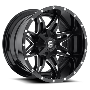 Fuel 2-Piece Wheels Lethal - D267 5 Black & Milled | Gloss Black Lip