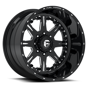Fuel Forged Wheels FF25 8 Gloss Black & Milled