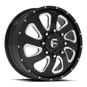 Fuel Dually Wheels Flow Dually Front - D269 8 Gloss Black & Milled