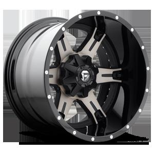 Fuel 2-Piece Wheels Driller - D257 5 Black & Machined with Dark Tint