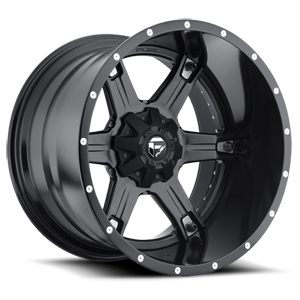 Fuel 2-Piece Wheels Driller - D256 5 Black & Milled