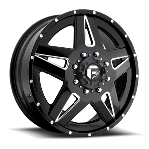 Fuel Dually Wheels Full Blown Dually Front - D254 8 Custom
