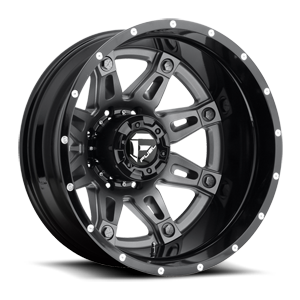 Fuel Dually Wheels Hostage II Dually Rear - D232 8 Anthracite center, gloss black lip