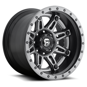 Hostage II - D232 Anthracite Center | Matt Black & Anthracite Outer 8 lug