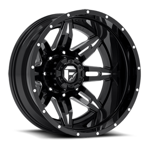 Fuel Dually Wheels Lethal Dually Rear - D267 8 Black & milled center, gloss black outer