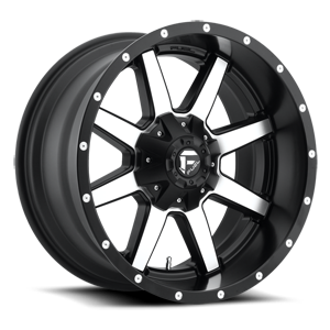 Fuel 1-Piece Wheels Maverick - D537 5 Black & Machined