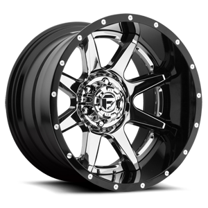 Rampage - D247 Chrome Center and Gloss Black Outer 6 lug