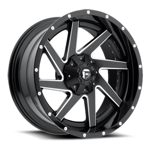 Renegade - D265 Black & Milled Center and Gloss Black Outer 5 lug