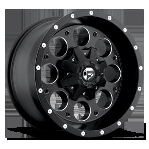Fuel 1-Piece Wheels Revolver - D525 6 Matte Black & Milled