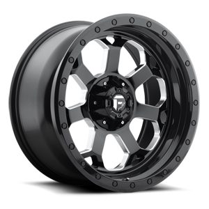 Fuel 1-Piece Wheels Savage - D563 5 Gloss Black w/ Milled Through Windows