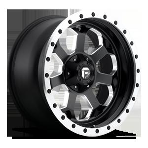 Fuel 1-Piece Wheels Savage - D565 5 Matte Black w/ milled through windows & ring