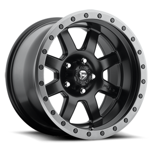 Fuel 1-Piece Wheels Trophy - D551 5 Matte Black w/ Anthracite Ring