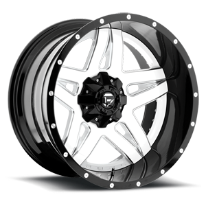 Fuel 2-Piece Wheels Full Blown - D255 5 Gloss White & Milled with a Gloss Lip