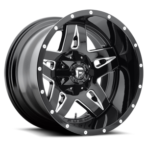 Fuel Deep Lip Wheels Full Blown - D554 5 Black & Milled