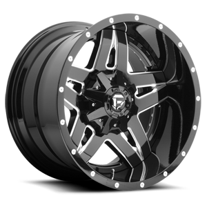 Fuel 2-Piece Wheels Full Blown - D254 5 Gloss Black & Milled