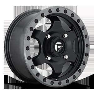 Fuel UTV Wheels Gatling - D639 4 15X7   Black Center w/ Anthracite Ring