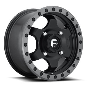 Fuel UTV Wheels GATLING - D639 4 15X7 | Black Center w/ Anthracite Ring